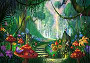 Fantasy Landscape Prints - Hidden Treasure Print by Philip Straub