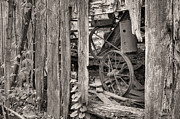 White Barn Framed Prints - Hidden Treasures Sepia Framed Print by JC Findley
