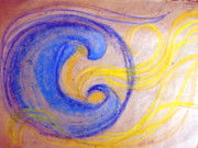 Yellows Pastels Originals - Hide us and Heal us by Sarah Hornsby