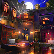 Disney Art - Hideaway Cafe by Joel Payne