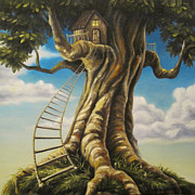 Fantasy Painting Originals - Hideaway by Dixie Rogers