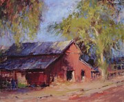 Old Barn Paintings - Hidin in the shadows II by R W Goetting