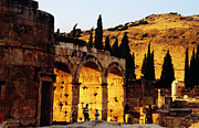 Close To People Framed Prints - Hierapolis Ruins Near Hillside Framed Print by Izzet Keribar