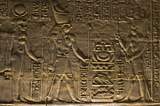 Ruins Photos - Hieroglyph at Edfu by Darcy Michaelchuk