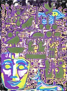 Horus Mixed Media - Hieroglyphics by Ben Leary