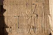 Horus Metal Prints - Hieroglyphics Cover The Walls Metal Print by Taylor S. Kennedy