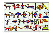 Susan Leggett Digital Art Acrylic Prints - Hieroglyphics Acrylic Print by Susan Leggett