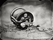 Saltwater Fishing Art - Higgins Reel by Chris Morgan