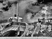 Trawler Metal Prints - High and Dry 2 Metal Print by Graham Taylor