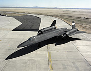 Sr-71 Prints - High Angle View Of A Sr-71a Blackbird Print by Stocktrek Images