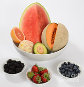 Cantaloupe Photo Prints - High Carbohydrate Fruit Print by Photo Researchers, Inc.