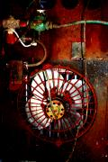 Jail Mixed Media - High Contrast Fan by Dana  Oliver