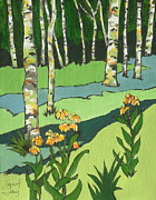 Birch Trees Originals - High Country 2 by Sandy Tracey
