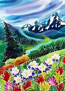 Batik Posters - High Country Poster by Harriet Peck Taylor