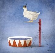 Duck Paintings - High Divin Act... by Will Bullas