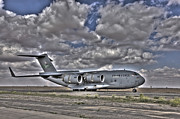 Tikrit Art - High Dynamic Range Image Of A C-17 by Terry Moore