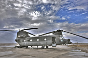 Tikrit Art - High Dynamic Range Image Of A Ch-47 by Terry Moore