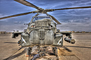 Front Range Prints - High Dynamic Range Image Of An Ah-64d Print by Terry Moore