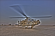Tikrit Art - High Dynamic Range Photo Of An  Ah-64d by Terry Moore