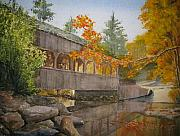 Falls Painting Originals - High Falls Bridge by Shirley Braithwaite Hunt