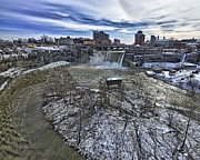 Rochester Skyline Prints - High Falls Print by Phil Pantano