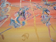 Circus. Paintings - High Flyer by Judith Desrosiers