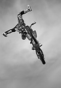 Supercross Framed Prints - High Flyer Framed Print by Simon Brooke