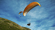 Kites Metal Prints - High Flyers Metal Print by Lorraine Devon Wilke