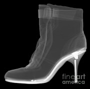 High Heeled Framed Prints - High Heel Boot X-ray Framed Print by Ted Kinsman