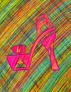 Kenal Louis Posters - High Heels Power Poster by Kenal Louis
