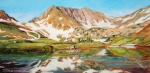 Reflective Paintings - High in the Rockies by Mary Giacomini