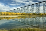 Train Bridge Prints - High Level Bridge in Lethbridge Print by Tom Buchanan