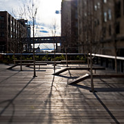 Wooden Building Prints - High Line Park Print by Eddy Joaquim