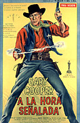 Spanish Poster Art Posters - High Noon, Gary Cooper, 1952 Poster by Everett