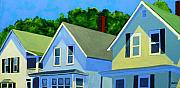 Houses Paintings - High Noon by Laurie Breton