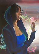 Hoodie Painting Framed Prints - High On Life Framed Print by Lauren Penha