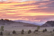 High Park Prints - High Park Fire Larimer County Colorado at Sunset Print by James Bo Insogna