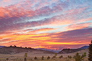 Ft Collins Photo Prints - High Park Wildfire Sunset Sky Print by James Bo Insogna