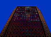 High Angles Digital Art Framed Prints - High rise building on Wilshire Boulevard Framed Print by Les Mayers