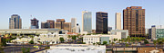 Office Space Prints - High Rise Buildings of Downtown Phoenix Print by Jeremy Woodhouse