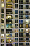 Westin Prints - High Rise Condominiums at Night Print by Eddy Joaquim