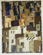 Fabric Mixed Media - High Rise by Rhoda Forbes