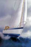 Schooner Framed Prints - High Roller Framed Print by Corey Ford