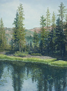 Tranquil Pastels - High Sierra Lake  by Martha J Davies