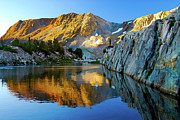 Saddlebag Posters - High Sierra Reflections - watercolor Poster by Keith Ducker