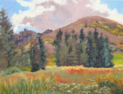 Ski Paintings - High Sierras September by Deborah Cushman