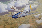 Aviation Print Art - High-Stakes Gamble by Steven Heyen