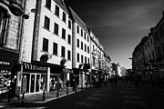 High Street Photos - High Street Shopping Area Inverness Highland Scotland Uk by Joe Fox