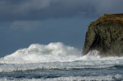 Haystack Rocks Prints - High Surf 2 Print by Bob Christopher