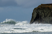Haystack Rocks Prints - High Surf Print by Bob Christopher